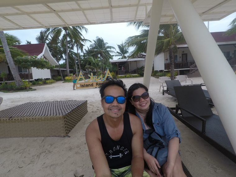 Relaxing on the beach at Anika Island Resort