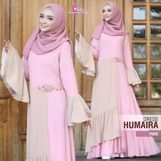 dress humaira miulan pink