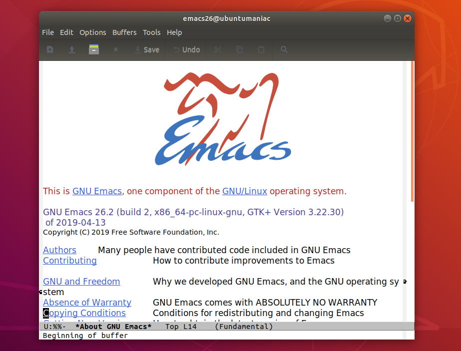 Install GNU Emacs 26 x on Ubuntu and Linux Mint system - The Ubuntu