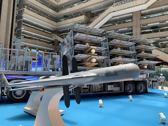 的劍翔無 人機  الدرون التايواني الانتحاري المضاد للرادارات Jianxiang anti-radiation loitering munition