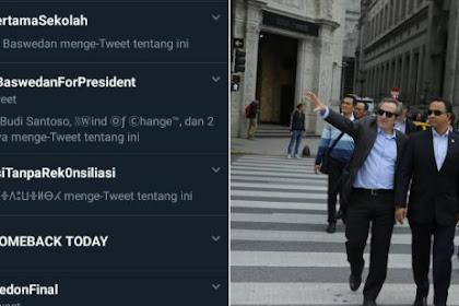 WOW! Tagar #AniesBaswedanForPresident Jadi Trending Topik Twitter