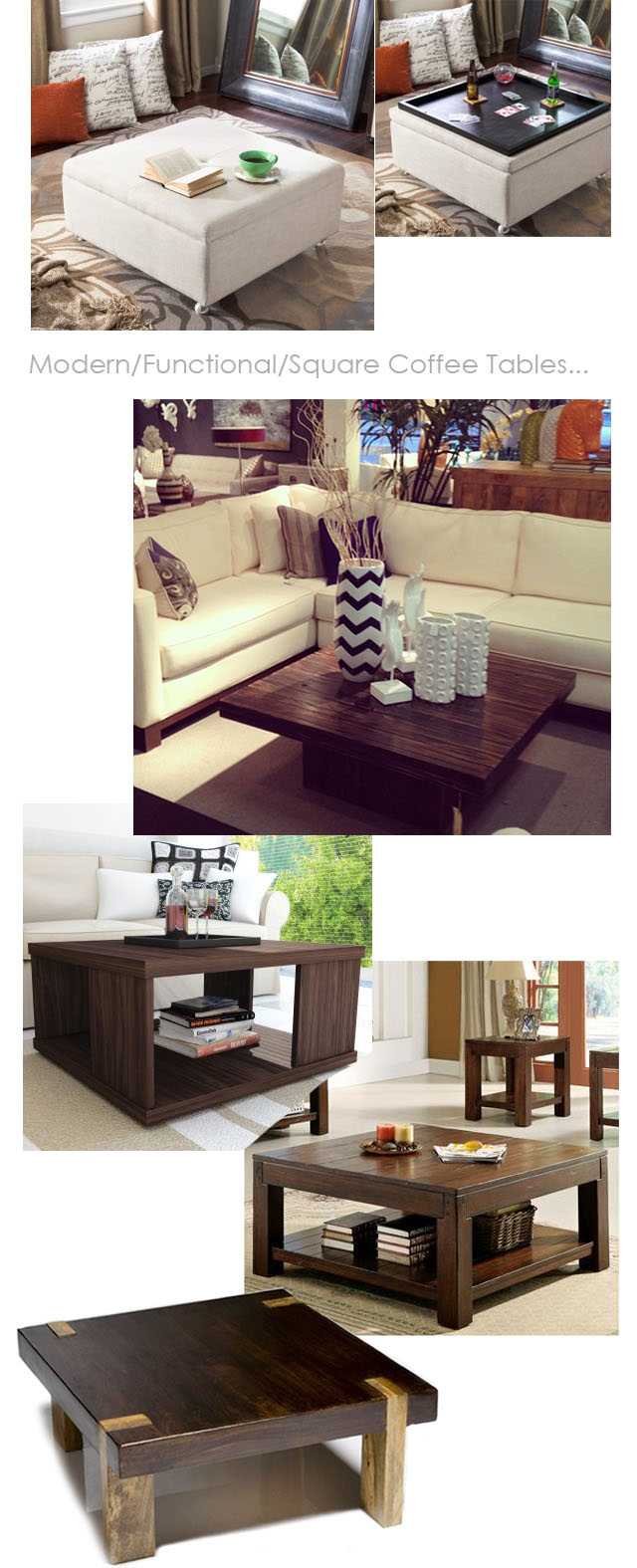 modern/square coffee tables