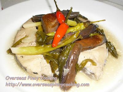 Tanguigue Steak Paksiw with Eggplant Recipe