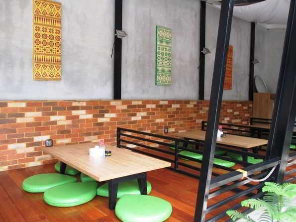 Contoh Gambar desain Cafe Lesehan Modern