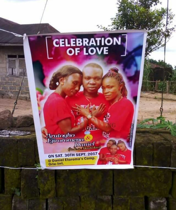 HILARIOUS] Photos from the wedding of Isoko man and his two