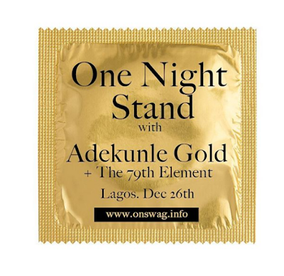 SINGER ADEKUNLE GOLD PROMOTES SHOW USING CONDOM DESIGN, FANS REACT