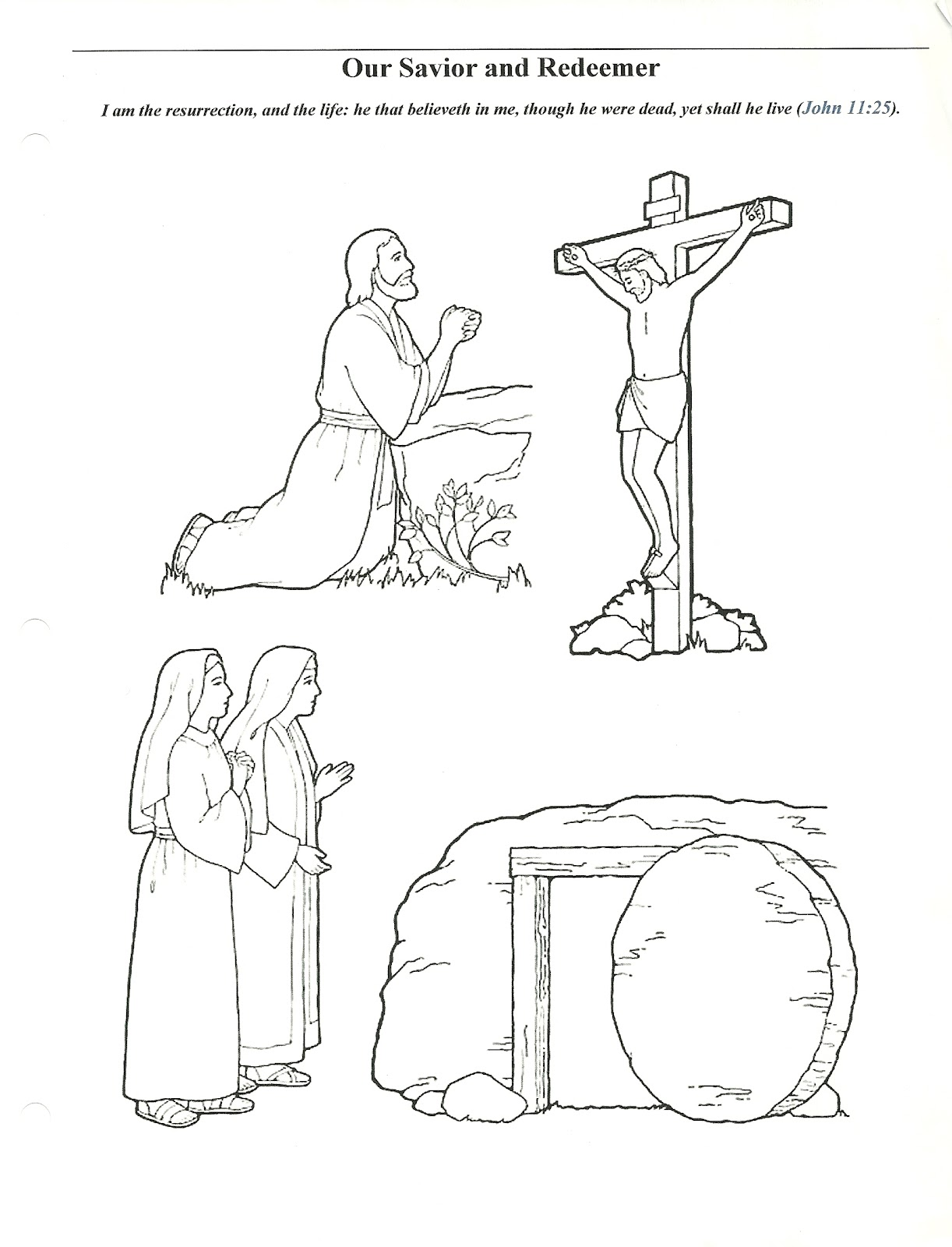 primary easter coloring pages - photo#1