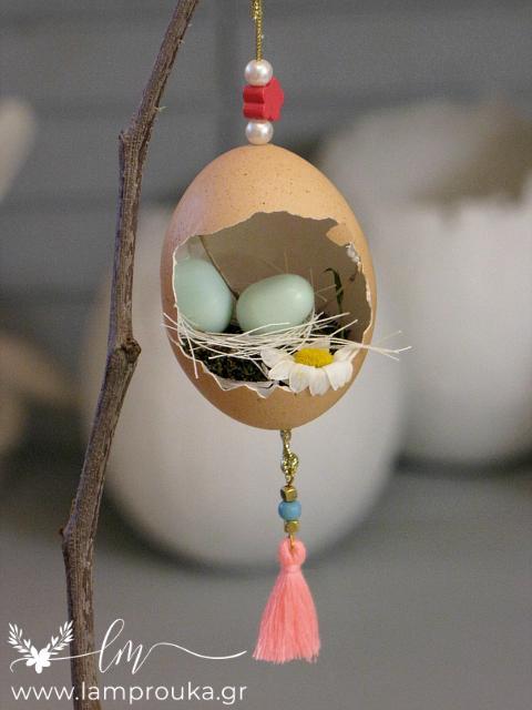 πασχαλινά αυγά φωλίτσες σε κλαδιά