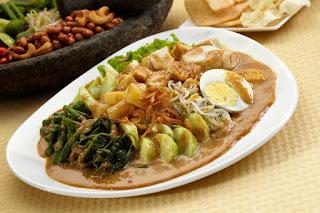 makanan gado gado asli indonesia