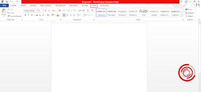 Setelah berada di dalam aplikasi Microsoft Word langsung saja kalian klik View