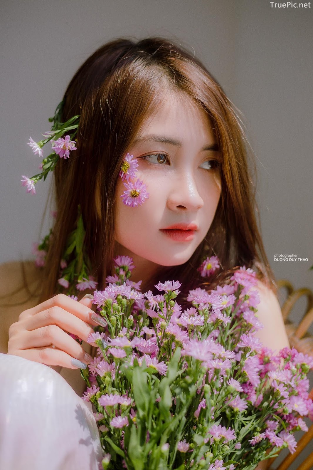 Vietnamese beautiful model Vu Thanh Huong - Fairies purple chrysanthemum - Picture 6
