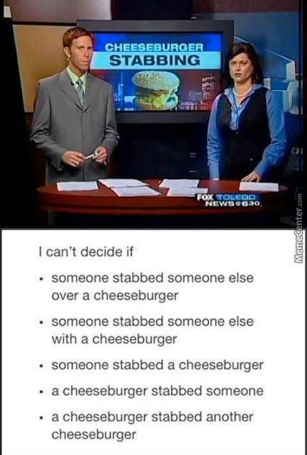 The cheeseburger stabbing incident