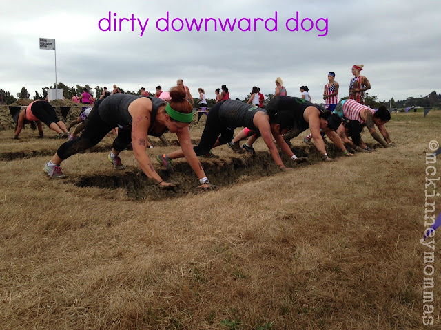 dirty downward dog, mud obstacle, mud run, mckinneymommas, yolo mamas