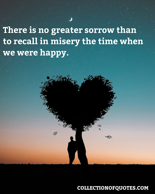 sad thought for love