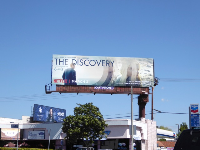 Discovery film billboard