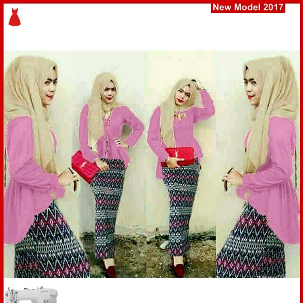 MSF0095 Model Hijab Pink Murah Peplum Tribal BMG