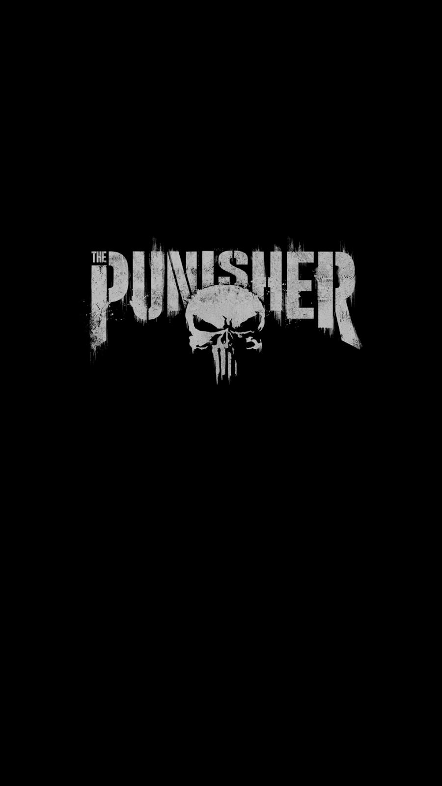 punisher logo oled wallpaper