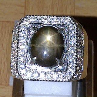 Cincin Batu Black Safir Star - ZP 821