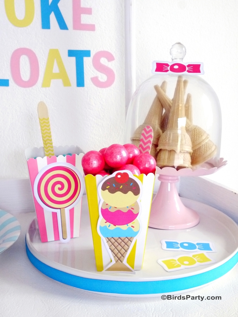 Kit Anniversaire Printables Ice Cream