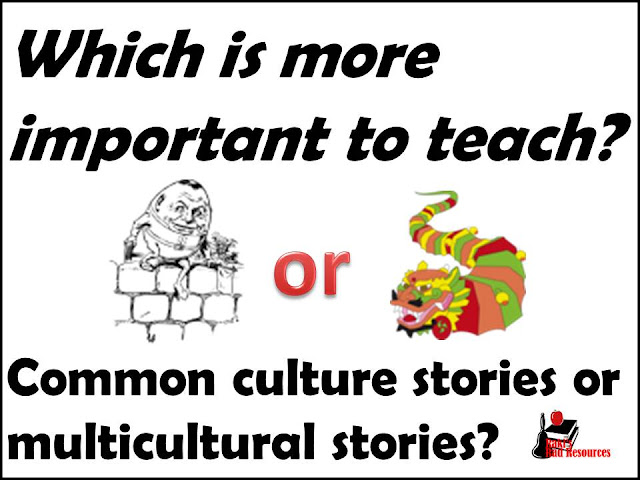Which is more important to teach? Common culture stories or multicultural stories? There are many sides to this discussion. Stop by my teaching blog - Raki's Rad Resources and join in the discussion.