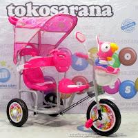 family rio boncengan sepeda roda tiga