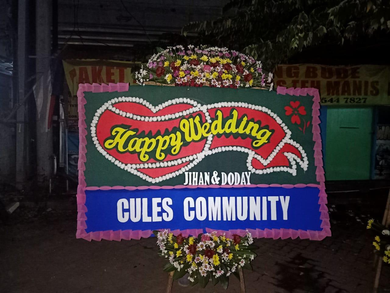 Bunga Papan Happy Wedding 018