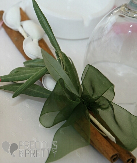 wedding favors with olive leaves