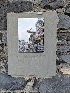 Alberto 'Nasello' Viti plaque in Grotta Byron - Porto Venere, Italy