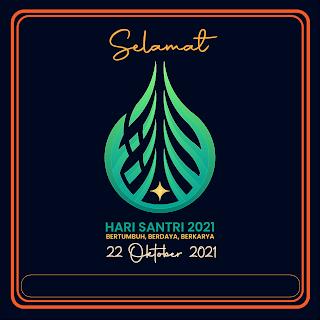 gambar poster selamat hari santri 2021 - kanalmu