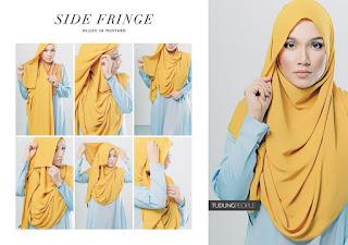Tutorial Memakai Hijab Segi Empat Polos