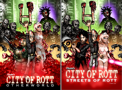 City of Rott: confronto tra le locandine di Otherworld e Streets of Rott