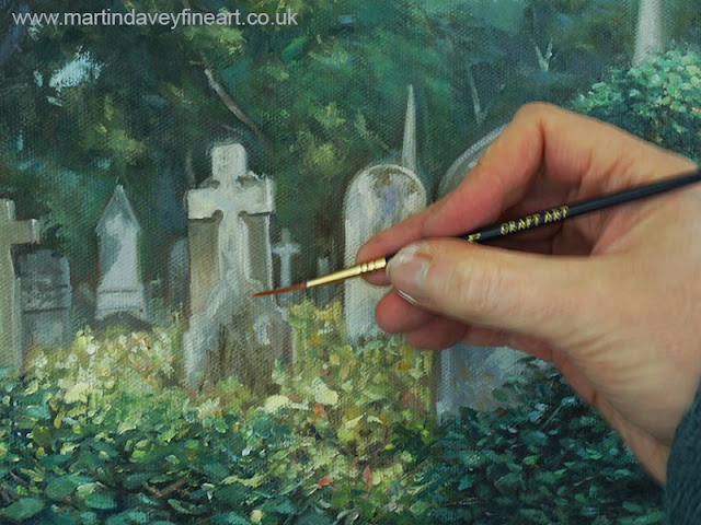 old cemetery artwork WIP Martin Davey