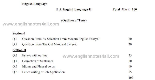 BA English split program
