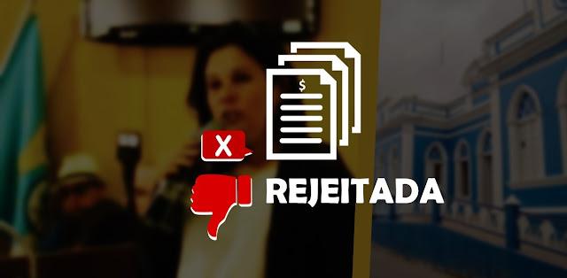 Rejeição das Contas da prefeita Joelma Campos