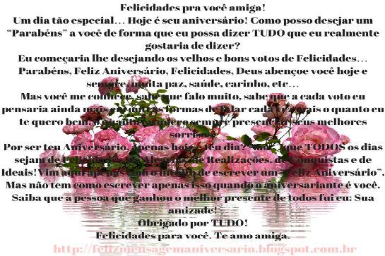 mensagem de feliz aniversário, parabéns pra você, mensagem de aniversario, feliz aniversário,Mensagem de Aniversário Felicidades para Você Amiga