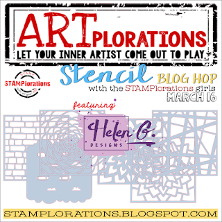 STAMPlorations Stencil Blog Hop