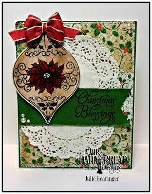 Our Daily Bread Designs, Christmas Ornament Stamp Set, Christmas Ornament Die, Holly Jolly Collection 6x6 Paper Pad, Designed by Julie Gearinger