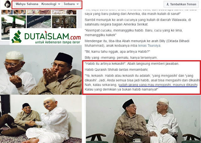 """Inilah Makna """"Habib"""" yang Dikatakan Prof Quraish Syihab kepada Cucu Gus Mus"""