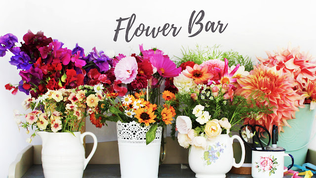 Flower Bar For Flower Garden party