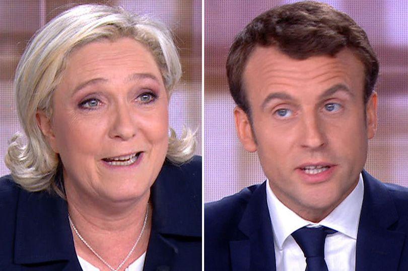 Emmanuel Macron and Le Pen