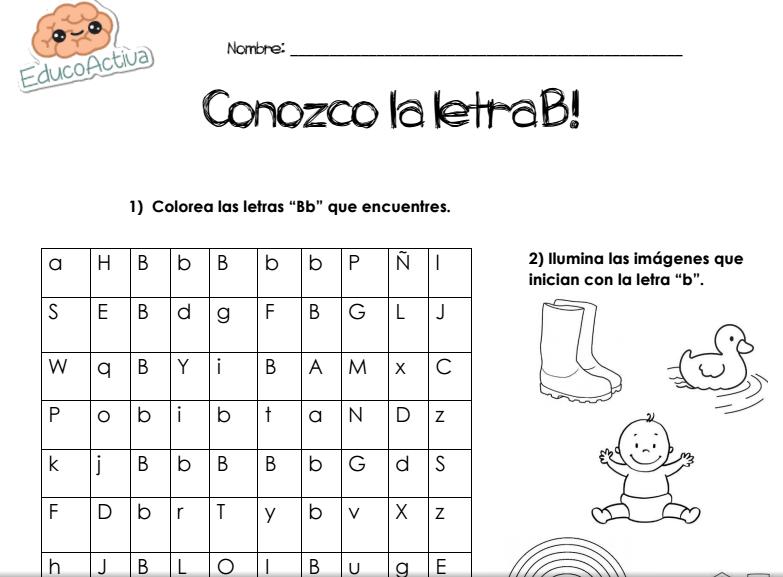 CONOZCO LA LETRA B! - EDUCOACTIVA