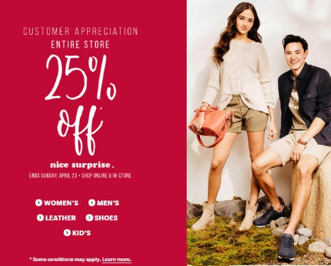 Roots 25% Off Customer Appreciation Sale