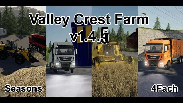 FS19 Valley Crest Farm Fram 4x v1.4.6