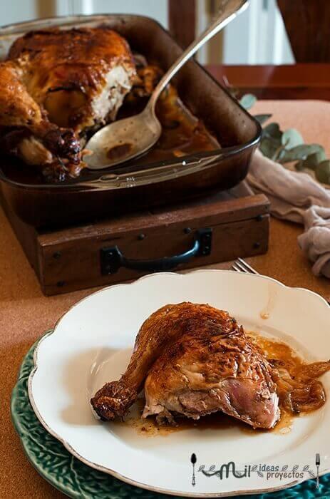 como preparar pollo al limón al horno