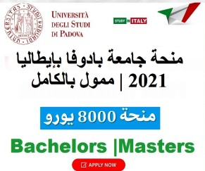 Funded scholarship from the University of Padua, Italy, to study Bachelor's and Master's degrees, 2021