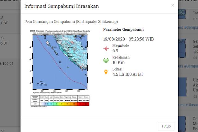 8 Fakta Gempa Bengkulu, dari Disebut Gempa Kembar hingga Terasa sampai Singapura
