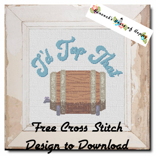 A Funny Beer Keg Cross Stitch Pattern.