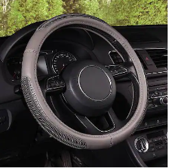 AutoCraft Grey Faux Leather Steering Wheel Cover $3.75 + Free Store Pickup at Advance Auto Parts