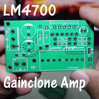 PCB Layout LM4700 Gainclone Amplifier