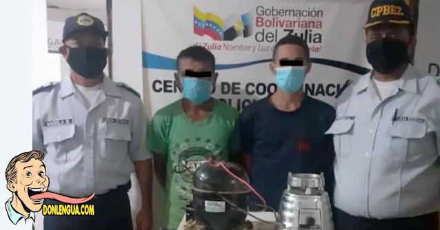 Dos detenidos por robarse una licuadora vieja en el Zulia